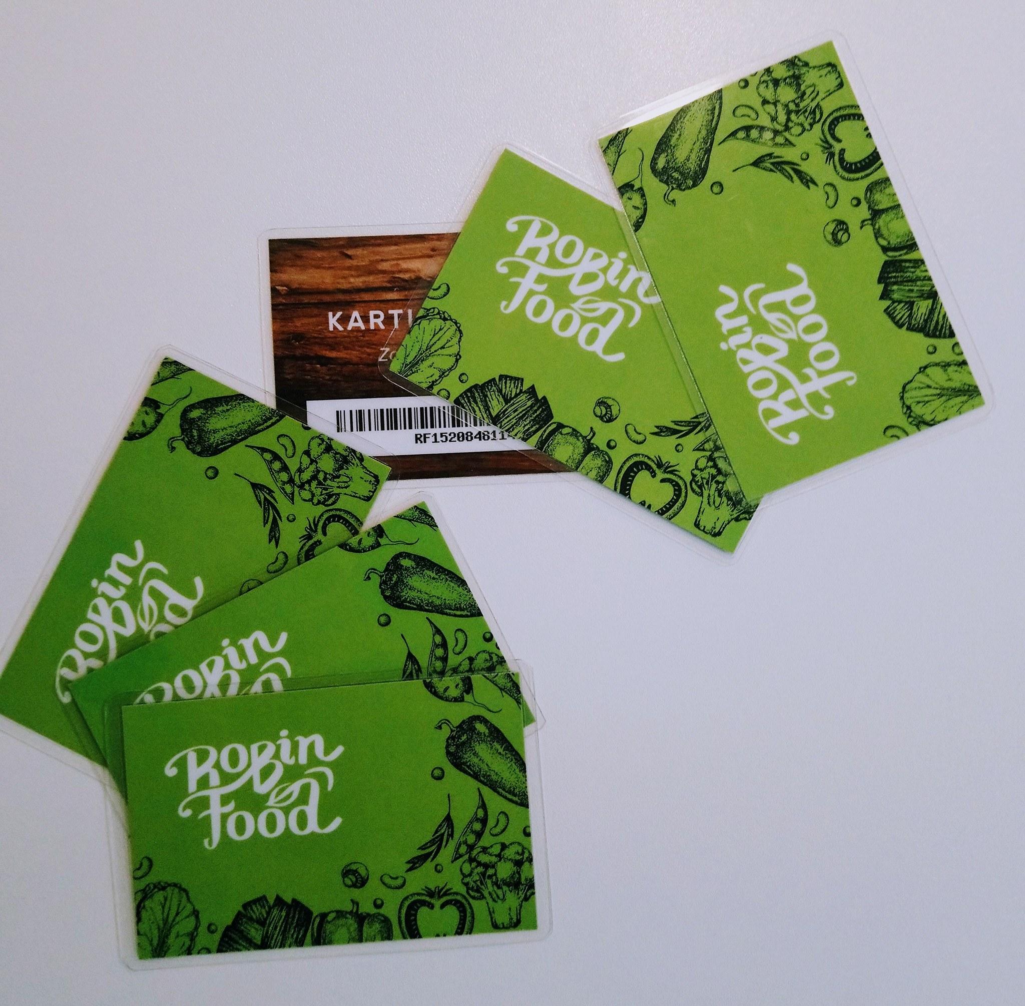 Predali smo prvih šest Robin Food kartic!