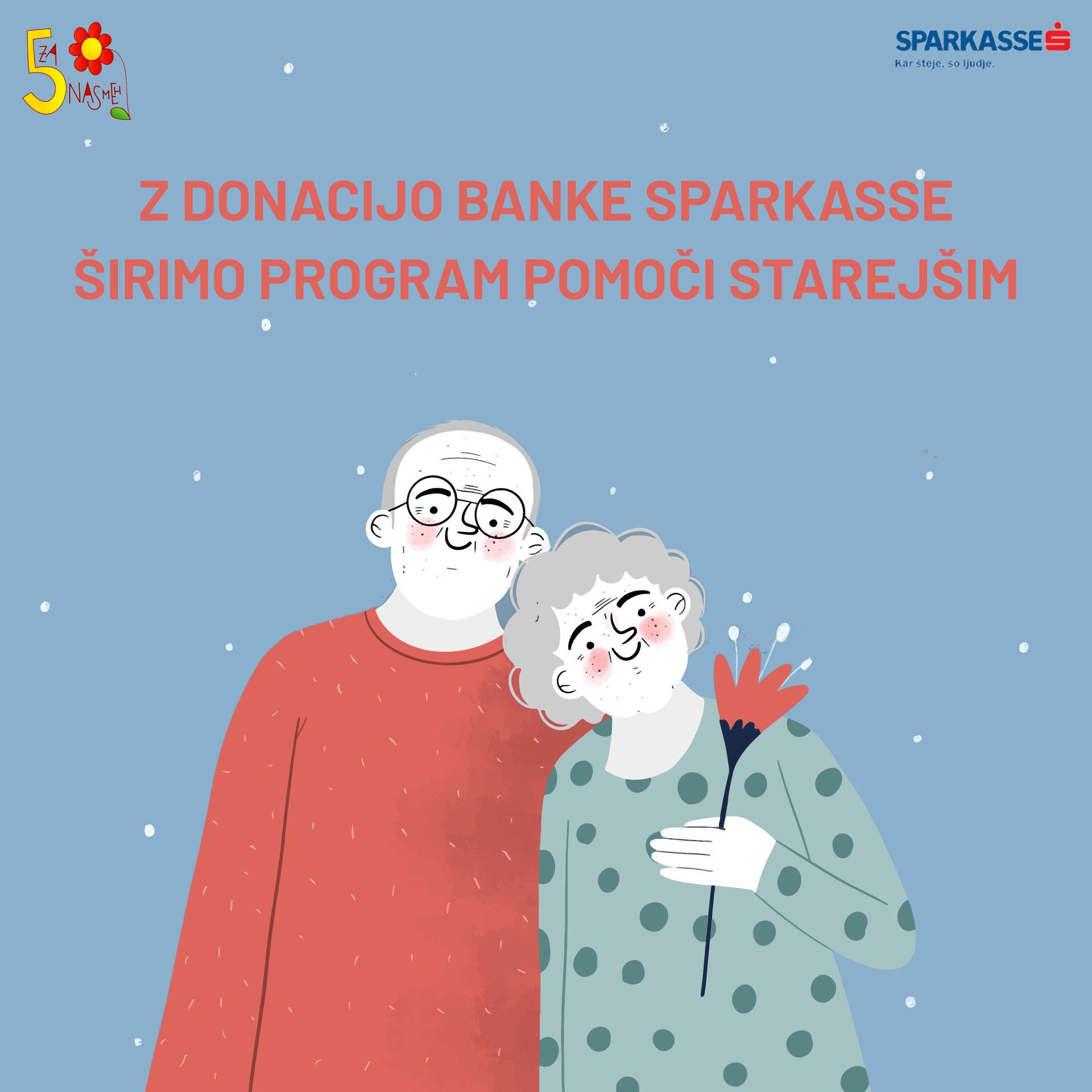 Z donacijo Banke Sparkasse širimo program pomoči starejšim!